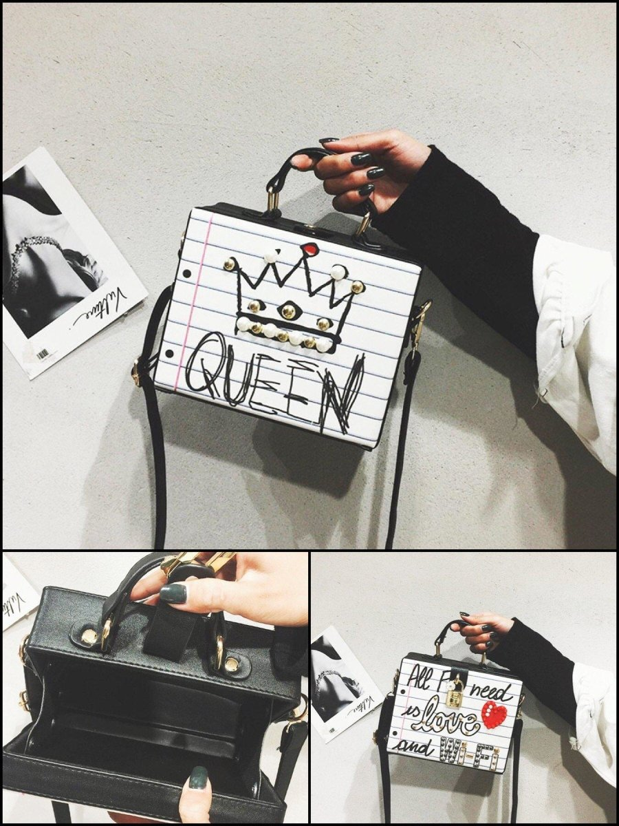 BlissGirl - Queen, Love & Wifi Purses - Queen - Harajuku - Kawaii - Alternative - Fashion