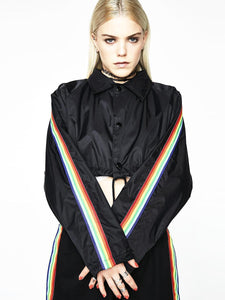 BlissGirl - Rainbow Cropped Jacket - XXL - Harajuku - Kawaii - Alternative - Fashion