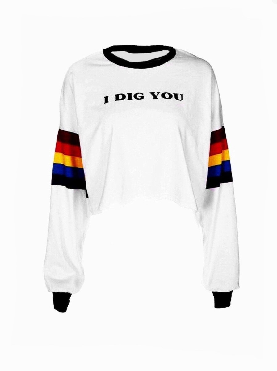 BlissGirl - Rainbow Long Sleeve Tee - Harajuku - Kawaii - Alternative - Fashion