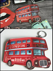 BlissGirl - Red English Bus Coin Purse - Bus - Harajuku - Kawaii - Alternative - Fashion