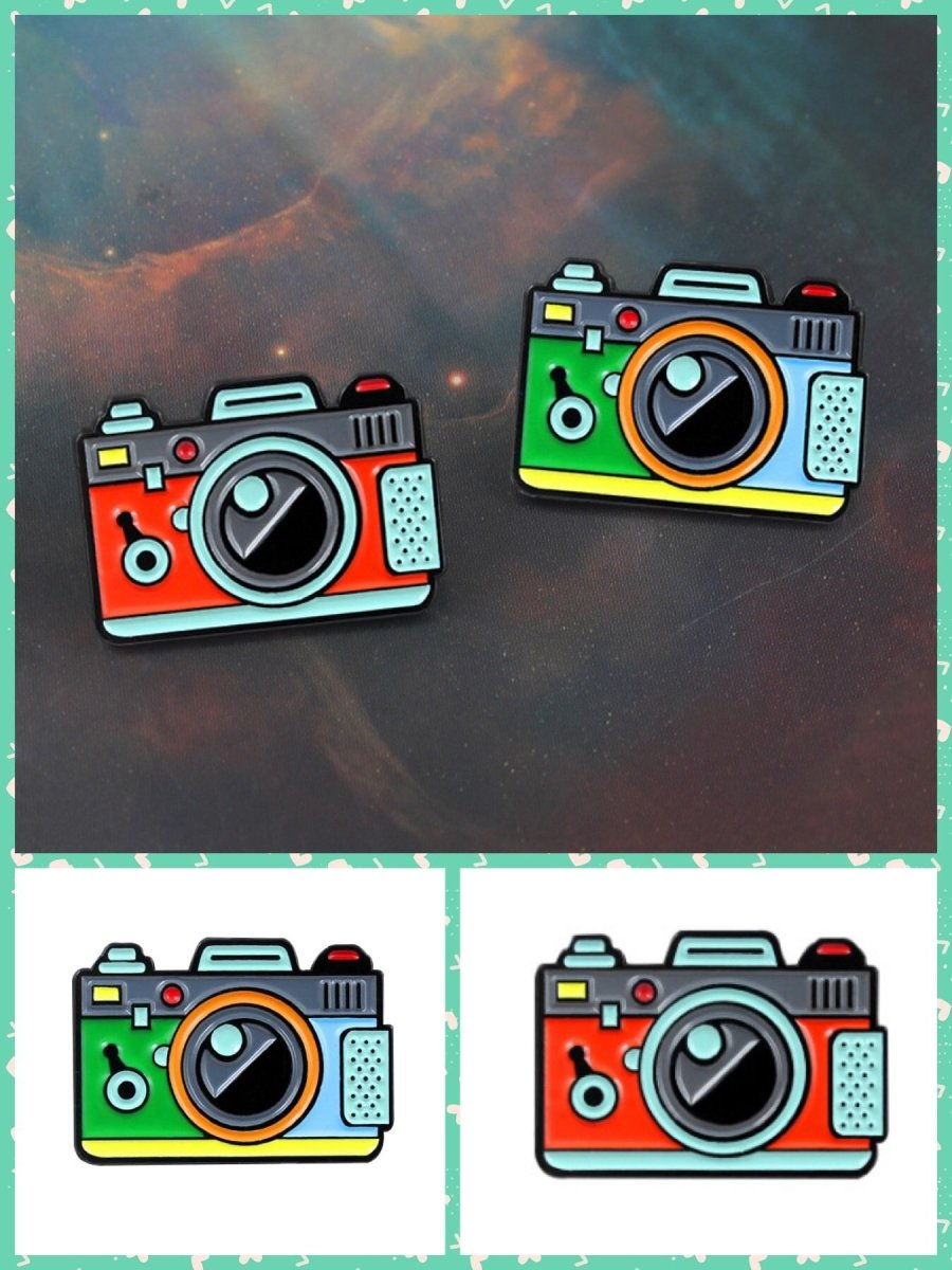 BlissGirl - Retro Camera Pin - Harajuku - Kawaii - Alternative - Fashion
