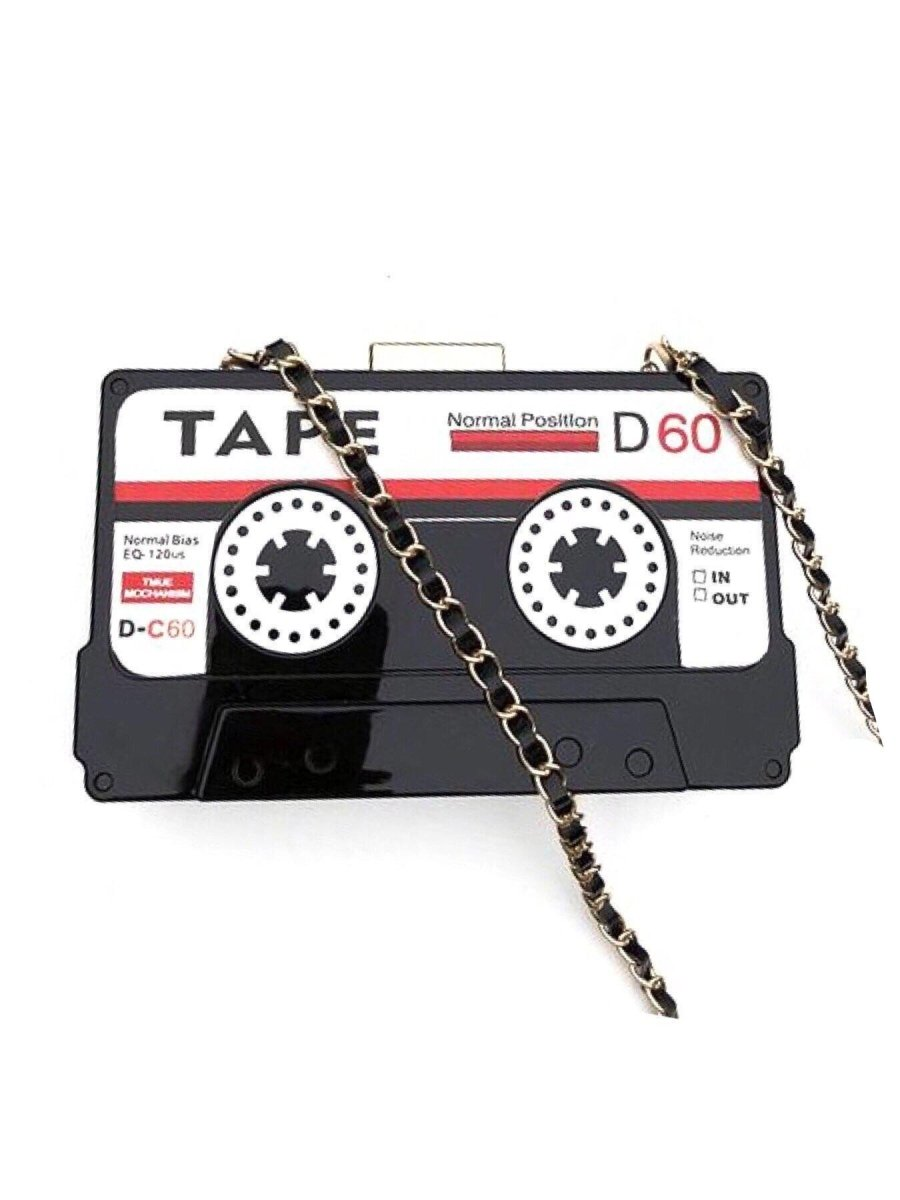 BlissGirl - Retro Cassette Tape Purse - Black - Harajuku - Kawaii - Alternative - Fashion