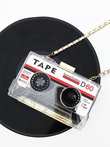 BlissGirl - Retro Cassette Tape Purse - Transparent - Harajuku - Kawaii - Alternative - Fashion