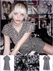 BlissGirl - Rocker Daisy Girl Dress - L - Harajuku - Kawaii - Alternative - Fashion