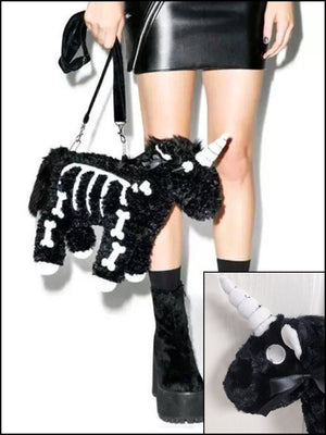 BlissGirl - Skeleton Unicorn Purse - Harajuku - Kawaii - Alternative - Fashion
