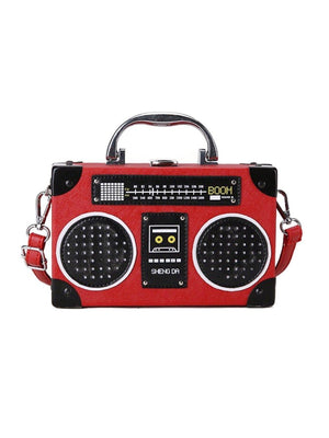 BlissGirl - Sparkly Boom Box Purse - Red - Harajuku - Kawaii - Alternative - Fashion