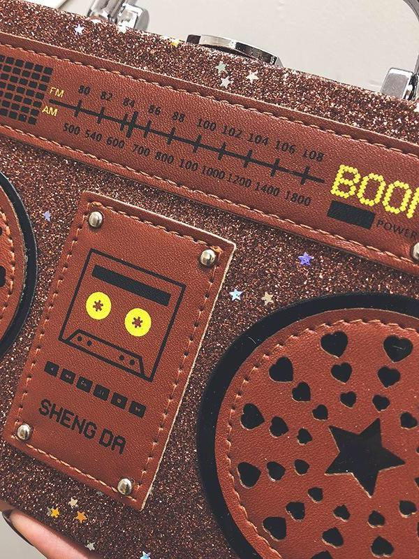 BlissGirl - Sparkly Boom Box Purse - Harajuku - Kawaii - Alternative - Fashion