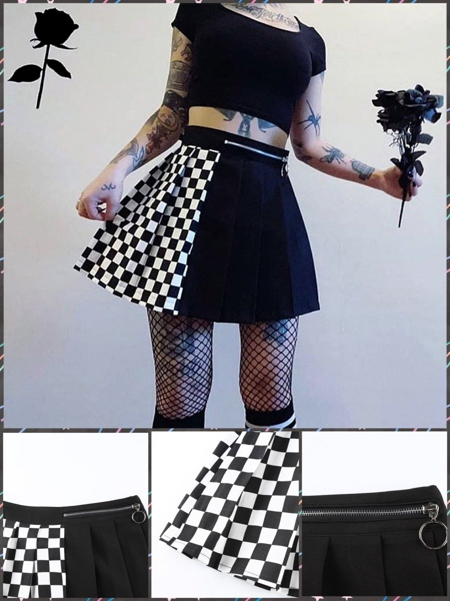 BlissGirl - Split Personality Skirt - S - Harajuku - Kawaii - Alternative - Fashion