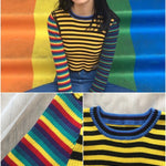 BlissGirl - Stripy Funky Long Sleeve Tee - Harajuku - Kawaii - Alternative - Fashion