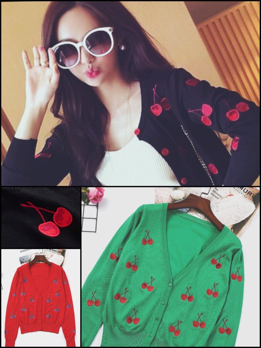 BlissGirl - Sweet Cherry Cardigan - Harajuku - Kawaii - Alternative - Fashion
