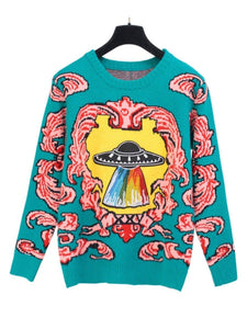 BlissGirl - UFO Sweater - Multi / One size - Harajuku - Kawaii - Alternative - Fashion