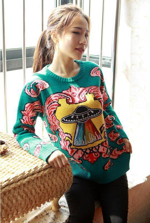 BlissGirl - UFO Sweater - Harajuku - Kawaii - Alternative - Fashion