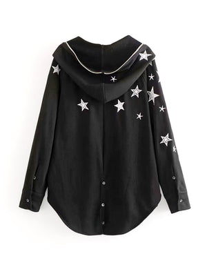 BlissGirl - Wish Upon A Star Hoodie - Harajuku - Kawaii - Alternative - Fashion