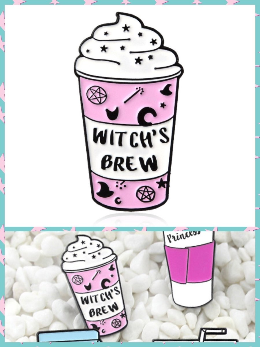 BlissGirl - Witch's Brew Pin - Witch's Brew - Harajuku - Kawaii - Alternative - Fashion