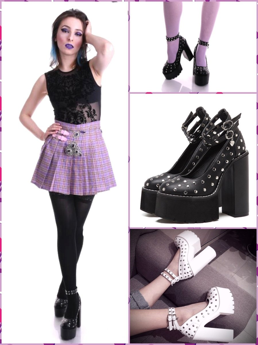 BlissGirl - You're a Stud Platform Heels - Harajuku - Kawaii - Alternative - Fashion