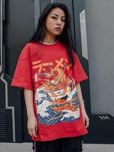 BlissGirl - Noodle Ship Tee - - Harajuku - Kawaii - Alternative - Fashion