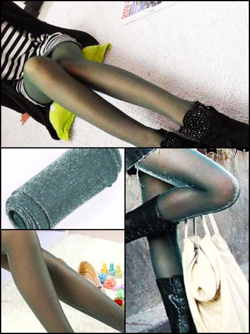 BlissGirl - Sparkly Tights - Green / One size - Harajuku - Kawaii - Alternative - Fashion