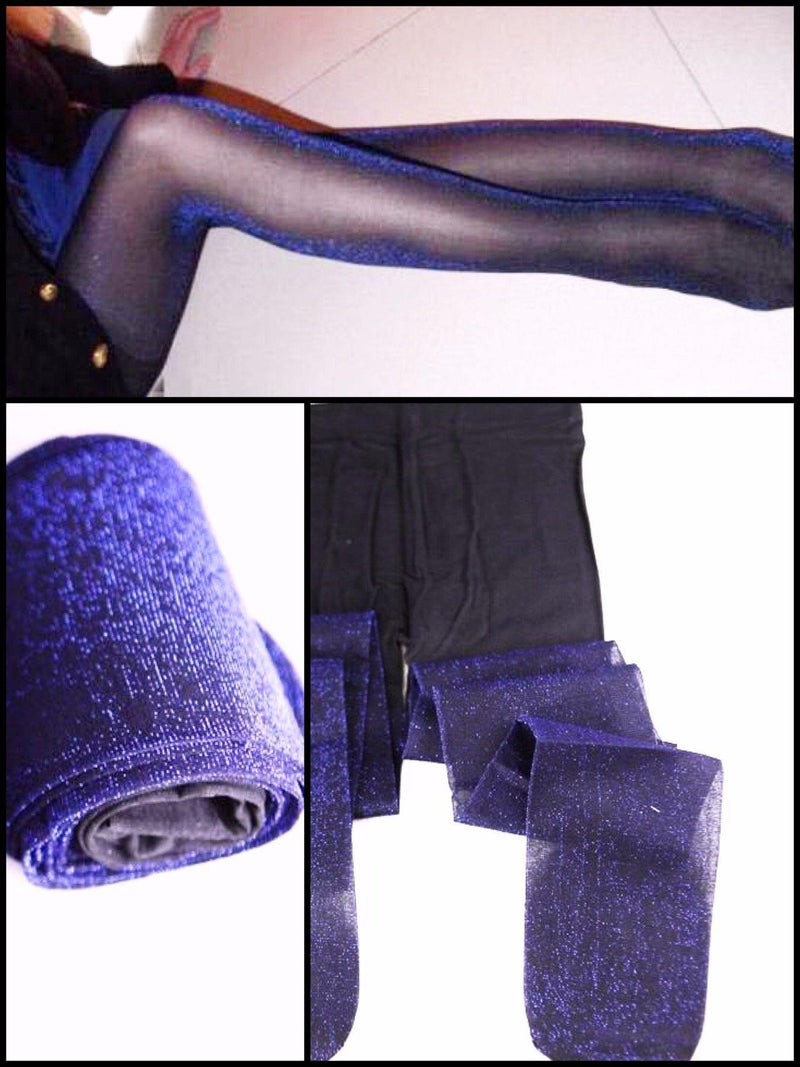 BlissGirl - Sparkly Tights - Purple / One size - Harajuku - Kawaii - Alternative - Fashion
