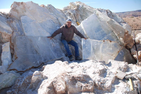 Rockswest Utah Selenite Mine - Call 505-455-3567 today