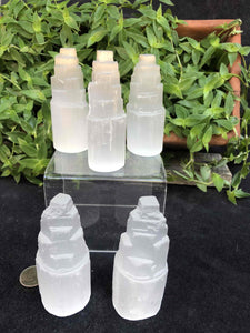 "4"" selenite votives"