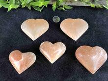 "Orange Selenite Hearts - 2.5-3"" MRSH3.01"