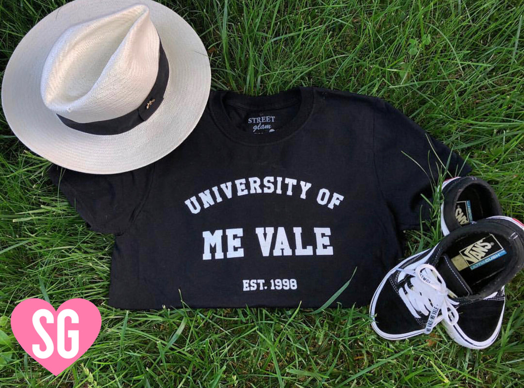 University of Me Vale Tee- Black