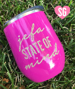 Jefa State of Mind Stainless Steel Tumbler- Magenta