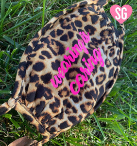 Wearing is Caring- Face Mask Leopard