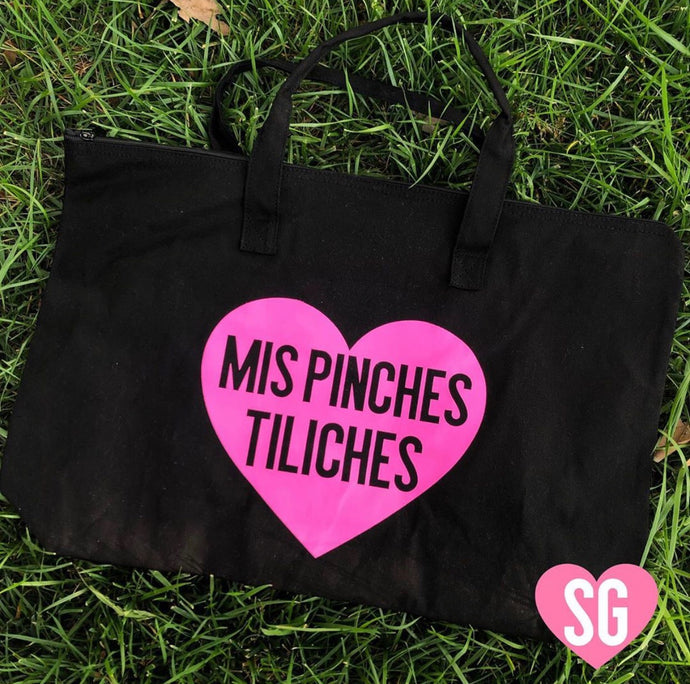Mis Pinches Tiliches Large Tote- Black