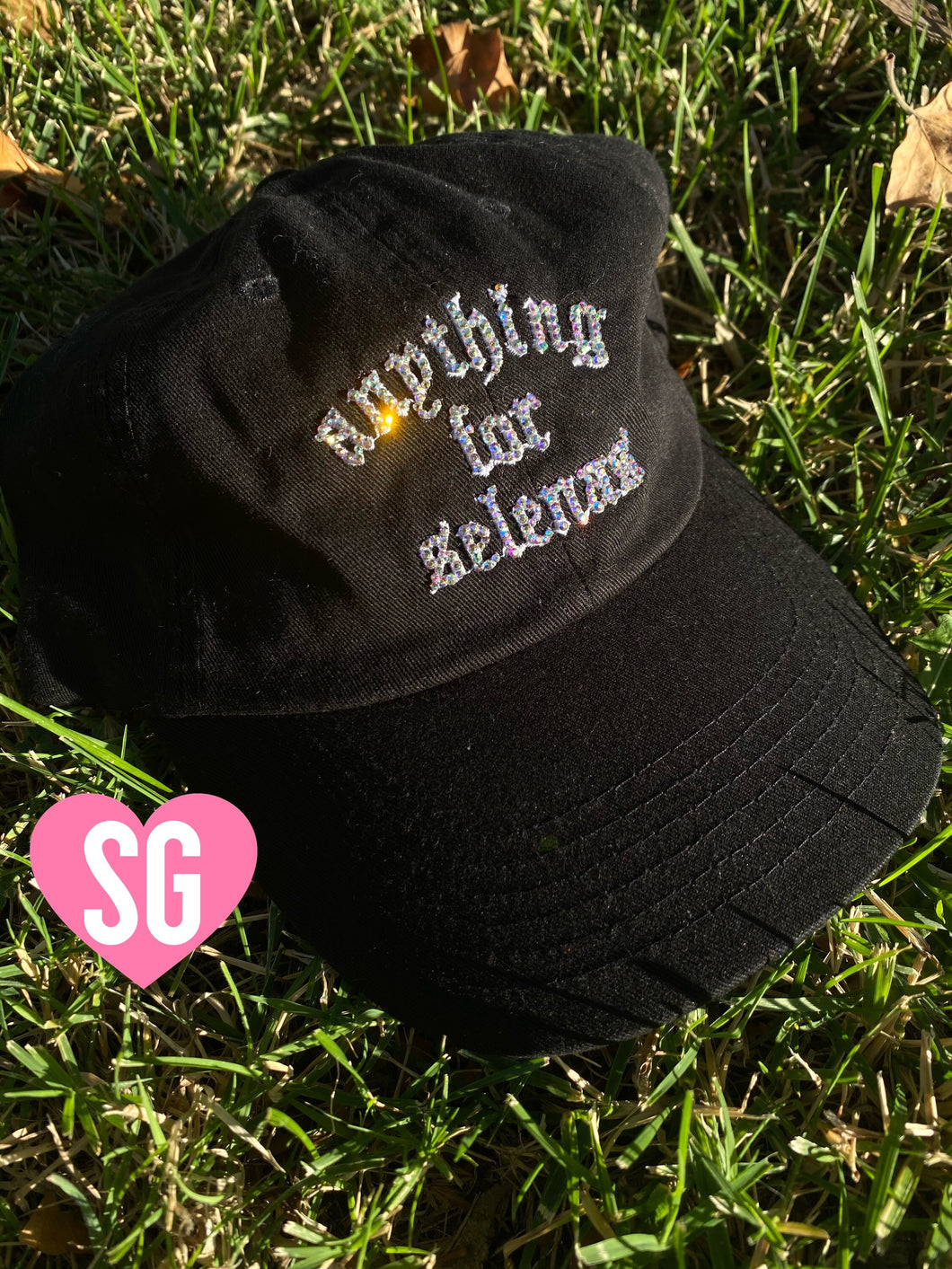 Bling Bling Anything For Selenas Hat- Black