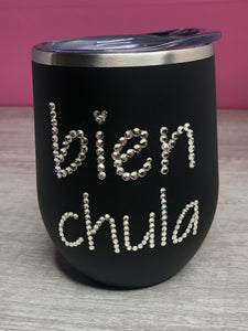 Bien Chula Sparkly Stainless Steel Tumbler- Matte Black