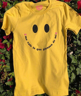 Me Vale Happy Face Tee- Yellow