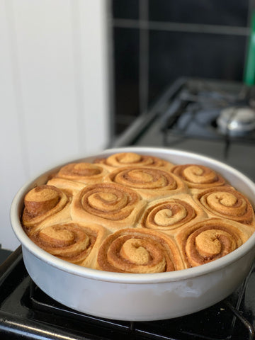 Cinnamon Rolls out of the oven.
