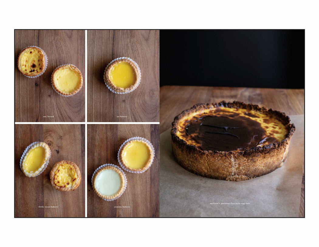 Toothache Magazine issue 5. Egg tarts in San Francisco, Mister Jui's. A magazine made for chefs by chefs. Features food articles, interviews, and recipes from world class chefs.