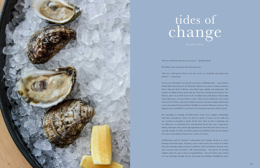 Toothache Magazine issue 4. Julia Sullivan, oysters. A magazine made for chefs by chefs. Features food articles, interviews, and recipes from world class chefs