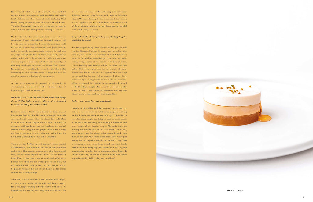 Toothache Magazine issue 6 - Mark Welker, Milk and Honey dessert. A magazine made for chefs by chefs. Features food articles, interviews, and recipes from world class chefs.
