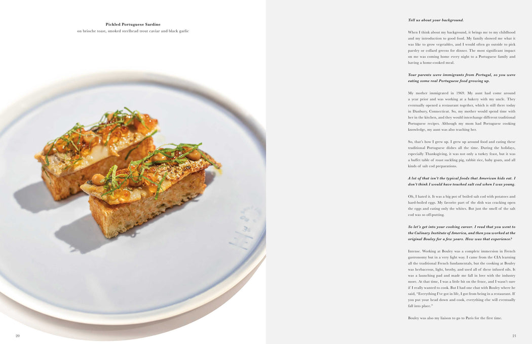 Toothache Magazine issue 6 - George Mendes, sardine toast. A magazine made for chefs by chefs. Features food articles, interviews, and recipes from world class chefs.