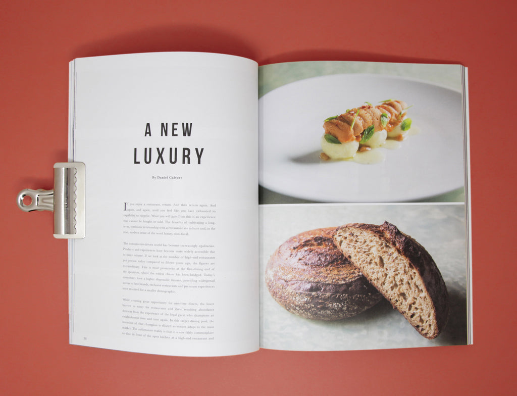 Toothache Magazine issue 2. Daniel Calvert of Belon bread.  A magazine made for chefs by chefs. Features food articles, interviews, and recipes from world class chefs