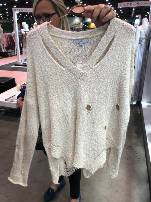 Distressed Days Sweater