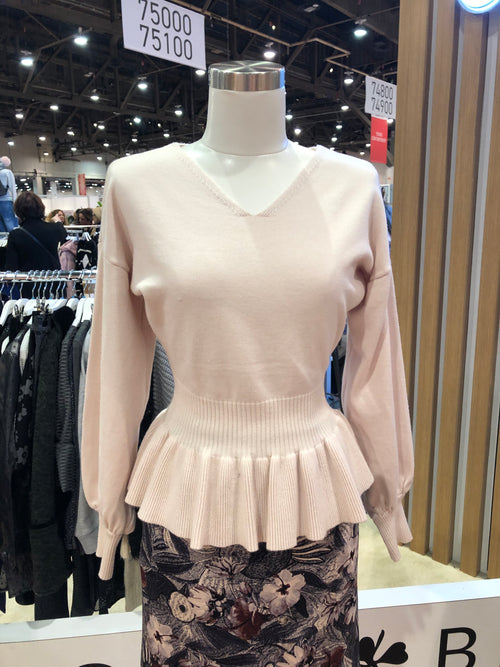 Pale Pink Rose Sweater