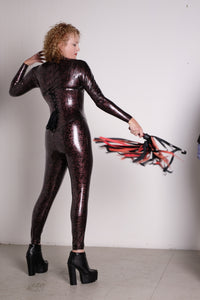 Custom V female pattern catsuit