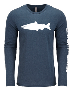 The Original Salmon Tee - Pacific Blue