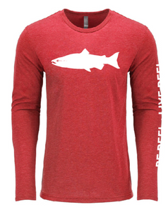 The Original Salmon Tee - Spawn Red