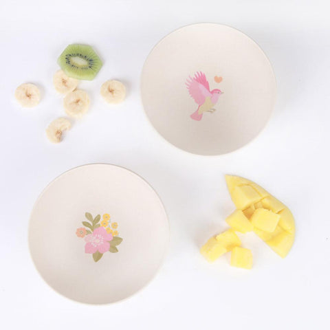 4 Bowls - Birds and Flowers