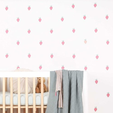 Sticker-mural-fraises-lovemae