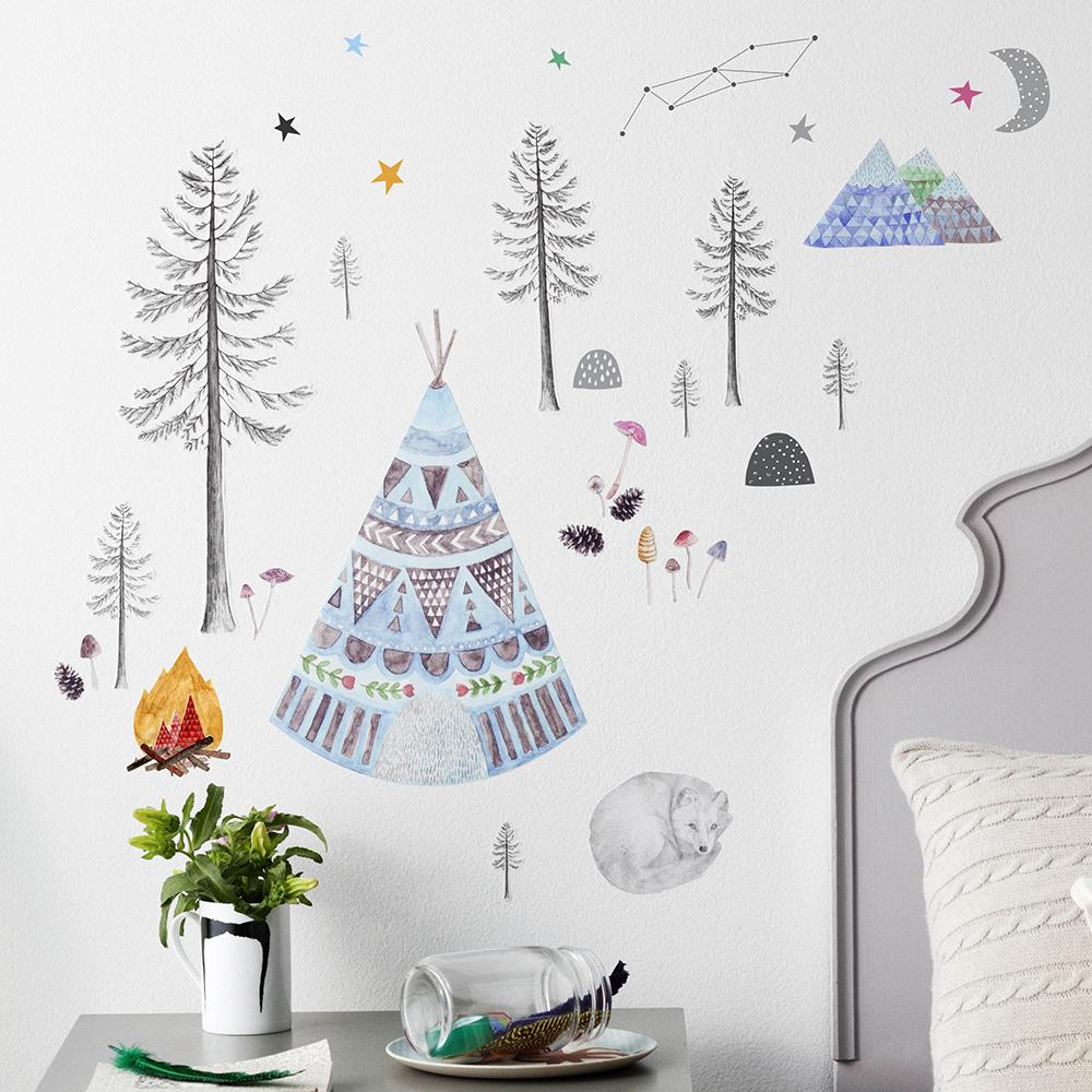 Sticker mural Renard Endormi