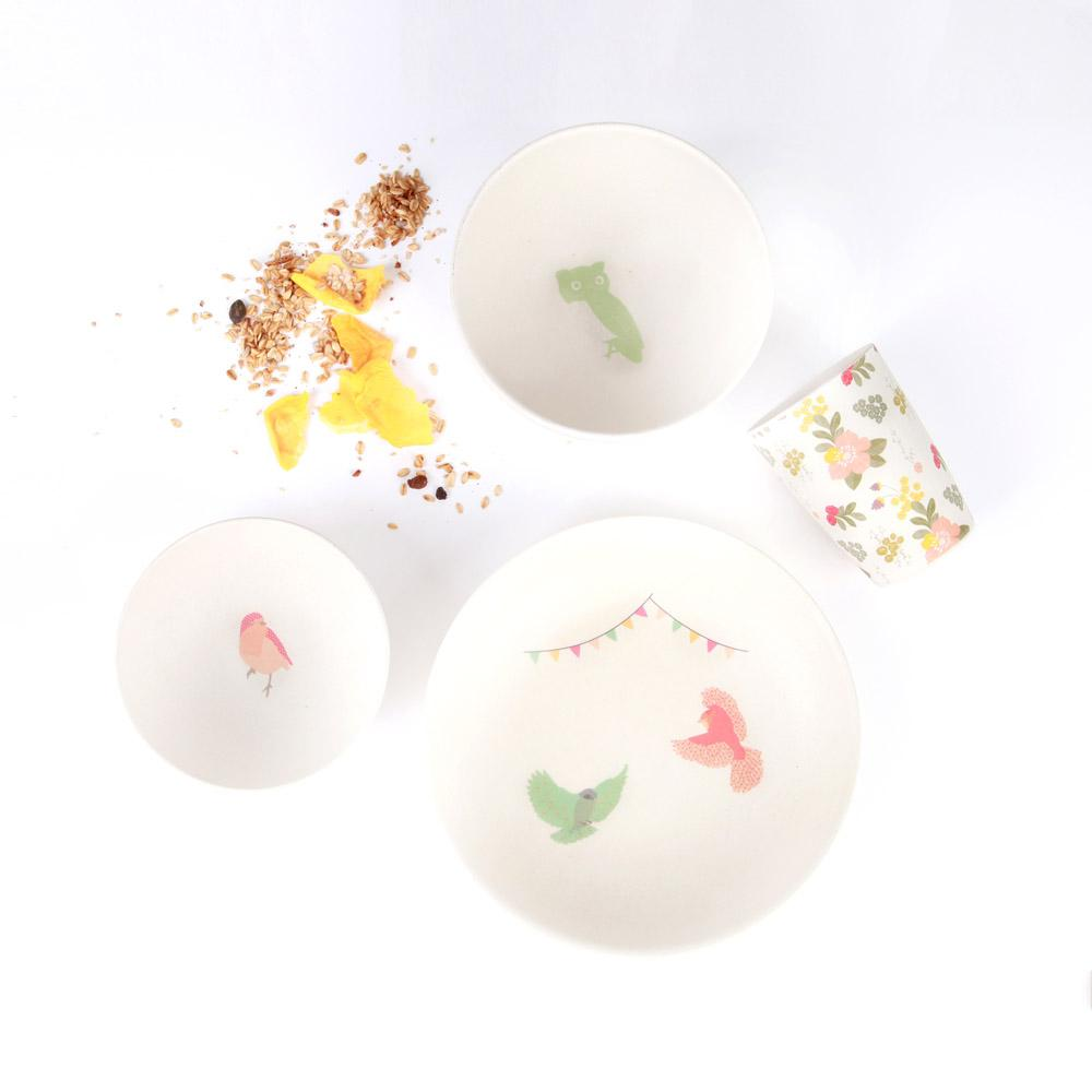 Bamboo 4pc Set - Woodland Supper