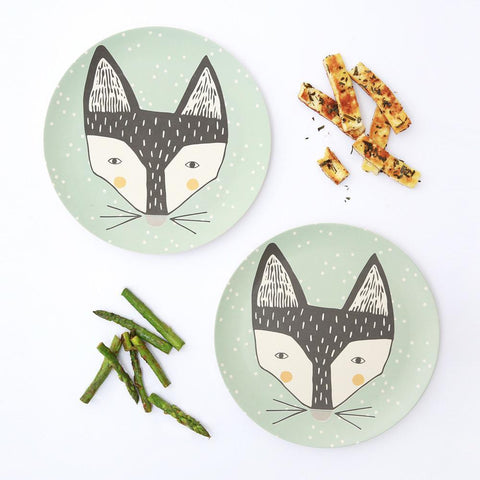Bamboo 2pk Large Plates - Fox