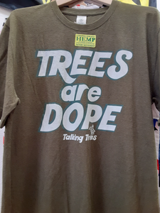 Trees are Dope Hemp T-Shirt - Olive