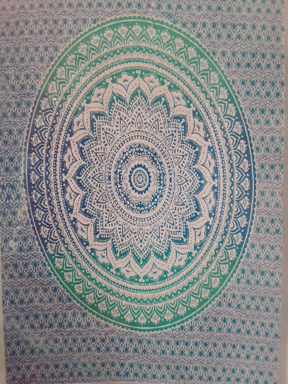 Mandala Tapestry - Blue/Green